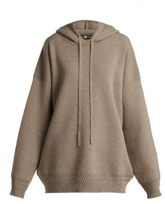 BEIGE Edward Crutchley - Oversized Hooded Wool Sweater - Womens