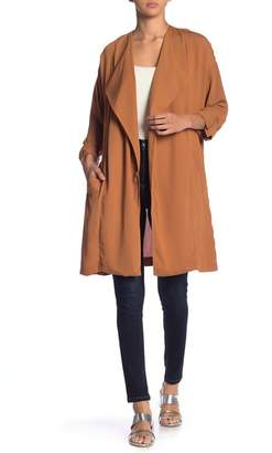 ASTR the Label Rolled Sleeve Oversized Coat