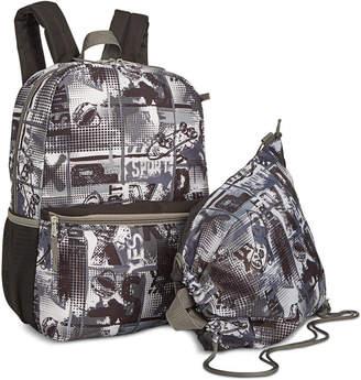 Bioworld Big Boys 2-Pc. Skate-Print Backpack & Drawstring Bag Set