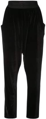 Baja East drop crotch cropped trousers