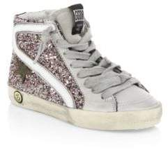 Golden Goose Baby's& Kid's Slide Sequined Sneakers