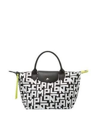 Longchamp Le Pliage LGP Large Tote Bag, Black/White