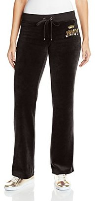 Juicy Couture Black Label Women's Logo Jc Laurel Vlr Bootcut Pant $138 thestylecure.com