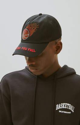 Basketball Skateboards Flaming Basketball Strapback Dad Hat