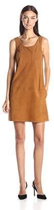 ATM Anthony Thomas Melillo Women's V Neck Suede Dress