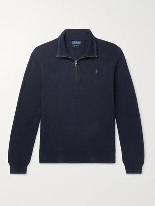 Polo Ralph Lauren Waffle-Knit Cotton Half-Zip Sweater