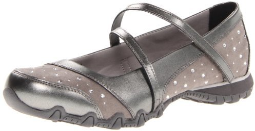 Skechers Women's Bikers-Breathe Easy Flat