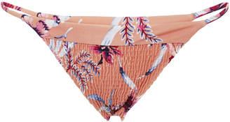 Tori Praver Lacie Smocked Skimpy Bikini Bottom