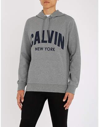 Calvin Klein Jeans Hikos 2 logo-appliqué cotton-jersey hoody