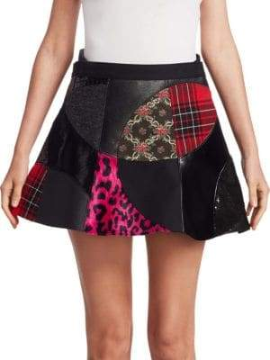 Junya Watanabe Patchwork Faux Fur Mini Skirt