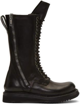 Rick Owens Black Army Creeper 2 Zip Boots