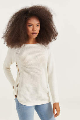 Ardene Knit Sweater with Side Buttons