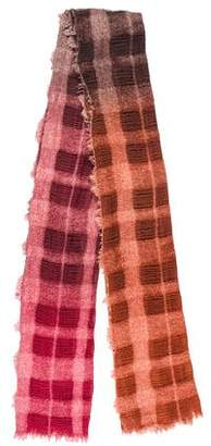 Faliero Sarti Plaid Raw-Edge Scarf