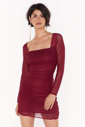 Nasty Gal On Our Mesh Behaviour Ruched Mini Dress
