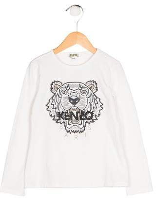 Kenzo Girls' Embroidered Long Sleeve Top