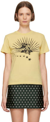 ALEXACHUNG Yellow Boxy Motorcycle T-Shirt