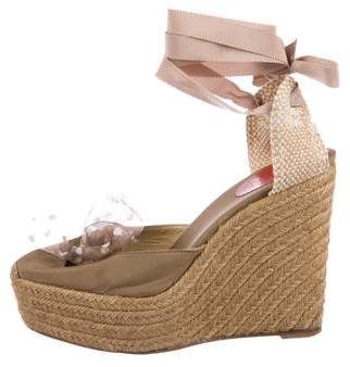 Christian Louboutin Bow Platform Wedges