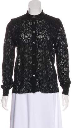 Zadig & Voltaire Long Sleeve Lace Top