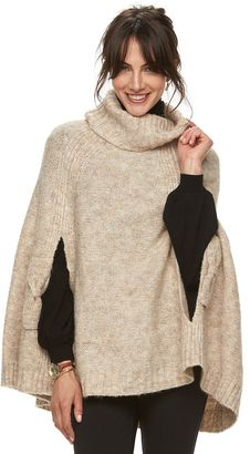 Women's ELLETM Turtleneck Poncho Sweater $68 thestylecure.com