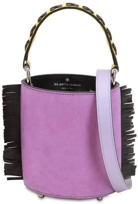 Les Petits Joueurs Mini Olivia Leather Bucket Bag