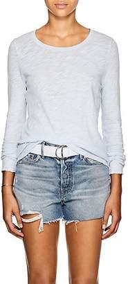ATM Anthony Thomas Melillo Women's Distressed Slub Cotton Jersey Long-Sleeve T-Shirt - Blue