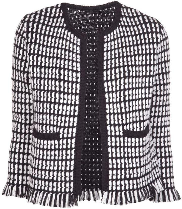 Lucien Pellat-Finet Lucien Pellat Finet fringed tweed jacket