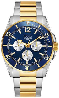 ESQ Men's ESQ0241 Two-Tone Multi-Function Stainless Steel Bracelet Watch, Blue Dial