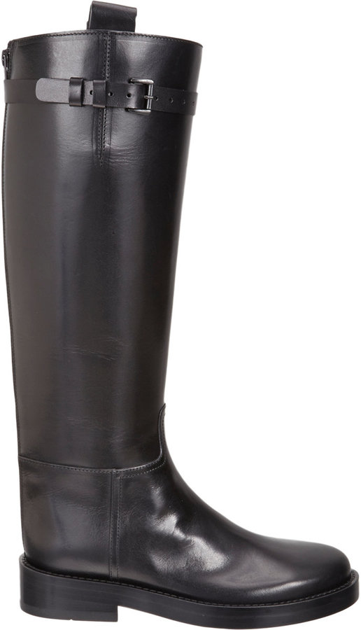 Ann Demeulemeester Buckle Strap Riding Boot