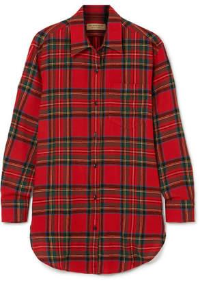 Burberry Tartan Wool-flannel Shirt - Red