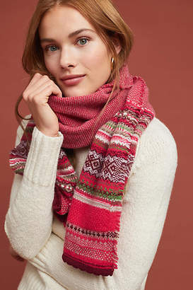 Eribe Knitwear Design Alpine Fair Isle Wool Scarf
