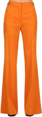 Rochas Wide Leg Wool Pants