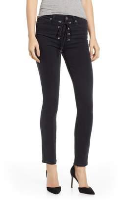 Paige Transcend - Hoxton High Waist Ankle Peg Jeans