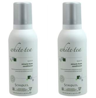 Scruples White Tea Leave-In Miracle Foam Conditioner 150 ml / 5.1 oz Pack of 2