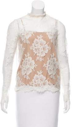 Stella McCartney Fringe-Trimmed Lace Top