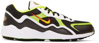 Nike Black and Green Air Zoom Alpha Sneakers