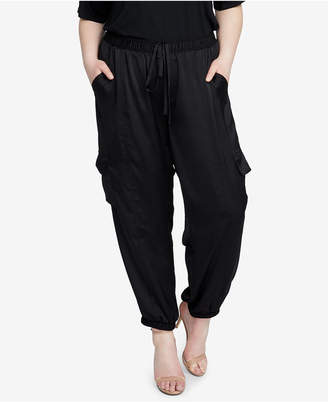 Rachel Roy Trendy Plus Size Satin Cargo Pants