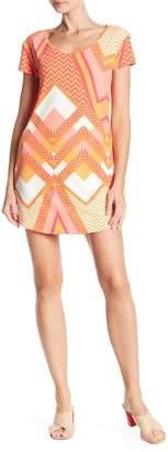 TORI RICHARD Daisy Short Sleeve Printed Dress