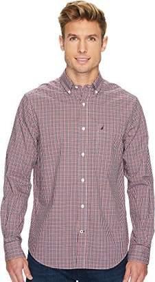 Nautica Men's Standard Long Sleeve Check Plaid Button Down Shirt
