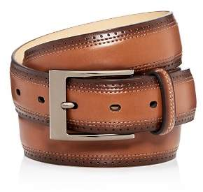 Bloomingdale's The Men's Store at Wing Tip Burnished Leather Belt - 100% Exclusive