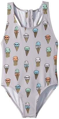 Stella McCartney Imogen Ice Cream Cones Printed Swimsuit Girl's Swimsuits One Piece