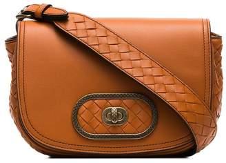 Bottega Veneta brown luna leather shoulder bag