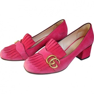 a6b0059ee Pink Suede Flats - ShopStyle UK