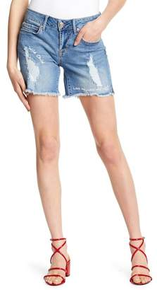 Seven7 Conversation Raw Hem Girlfriend Shorts