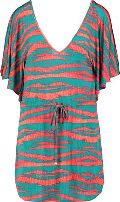 Vix Marmara Lina printed stretch-jersey coverup $188 thestylecure.com