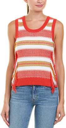 Derek Lam 10 Crosby Fringe Knit Top