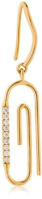 Aurelie Bidermann Paper Clip Mono Earring W/ Diamonds