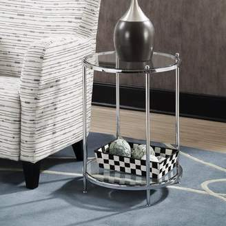Convenience Concepts Royal Crest 2-Tier Round End Table