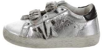 Golden Goose Girls' Metallic Old School Edition Sneakers