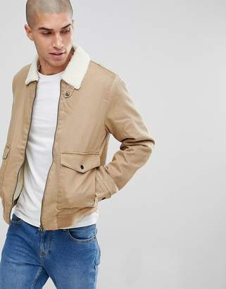 ONLY & SONS Jacket With Fleece Lining
