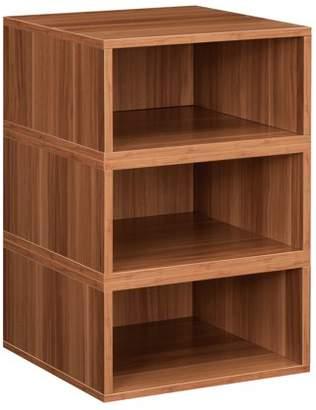 Cubo Niche Storage Set- 3 Half Size Cubes- Warm Cherry